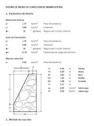 design of masonry retaining wall in xls