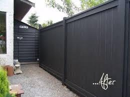 Studio G Garden Design Landscape Inspiration Before After Backyard Black Fence Fence Paint