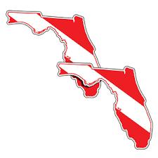 Marine Sports 8 Vinyl Decal State Of Florida Dive Flag West Marine