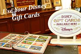 disney world paying with gift