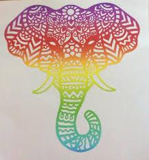 Elephant Henna Red Car Vinyl Sticker Home Garden Select Size Decals Stickers Vinyl Art Decals Stickers Vinyl Art Home Decor