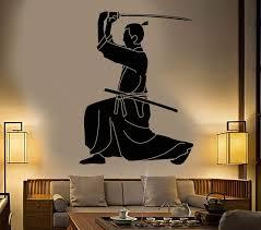 Vinyl Wall Decal Samurai Japanese Sword Katana Warrior Stickers Unique Wallstickers4you