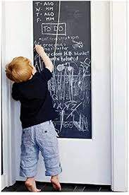 Amazon Com Eachwell Diy Vinyl Chalkboard Removable Blackboard Wall Sticker Decal 18 X 79 With 5 Free Chalks For Home Office Home Kitchen