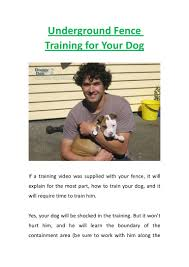 Underground Fence Training For Your Dog