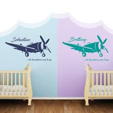 Custom Name Airplane In The Sky For My Baby Wall Decal Nursery For Hom Egraphicstore