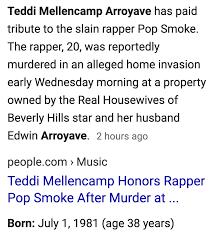 Bashar Jackson, Pop Smoke, dead at 20, February 19, 2020 +Welcome ...