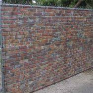 Fabric Fence Fence Fabric Is The Original Fauz Stone Hedge Alternative Made From Lightweight Vinyl Mesh Scrim And Block Out Materials Cho Dogada Yasam Bahce