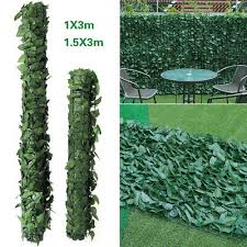 3m Artificial Ivy Leaf Hedges Privacy Screening Garden Balcony Fence Panel Rolls 29 95 Picclick Uk