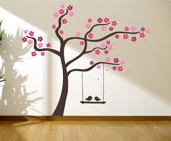 Tree With Love Birds On A Swing Wall Graphics Wall Graphic Tree Decal Tree Wall Art Tree Wall Decal Wall Decal