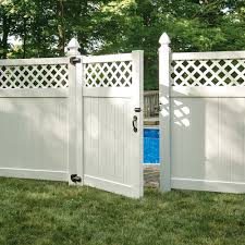 Conway 6x8 Lattice Top Vinyl Fence Kit Vinyl Fence Freedom Outdoor Living For Lowes