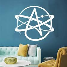 Amazon Com Wall Stickers Murals Symbol Atom Science Lab Wall Decal Classroom School Chemistry Laboratory Science Wall Sticker Vinyl Home Decor 56x50cm Kitchen Dining