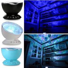 Ocean Wave Projector 12 Led 7 Colors Changing Remote Control Night Light Built In Music Player Kids Bedroom Living Room Decor Led Night Lights Aliexpress