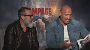 The Rock & Jeffrey Dean Morgan laugh at an old photo of The Rock ...