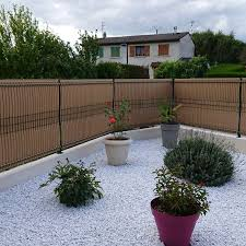 Garden Fence Screeno Line Betafence For Green Spaces Louvered Pvc