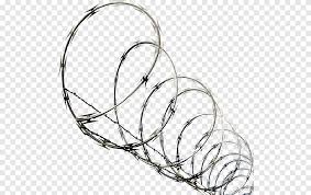 Barbed Wire Barbed Tape Concertina Wire Fence Electrical Wires Cable Fence Png Pngegg