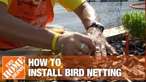 How To Install Bird Netting The Home Depot Youtube