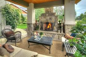 outside fireplace ideas
