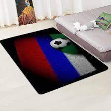 Modern Carpet 3d Football Area Rugs Flannel Rug Memory Foam Carpet Boys Kids Play Crawl Mat Big Rug Carpets For Home Living Room Carpet Aliexpress