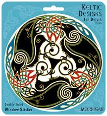 Morrigan Triple Ravens Window Decal By Welsh Artist Jen Delyth Celtic Art Studio