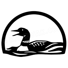 Calling Loon Decal Sticker Set For Canoe Kayak Vehicle