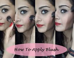 proper way to apply and choose blush
