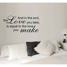The Love You Take 2 Wall Or Window Decal 13 X 26 Black Walmart Com Walmart Com