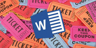 raffle ticket template for microsoft word
