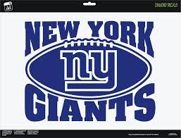 New Giants Vinyl Decal Fan Gear Nfl Football Car Window Sticker Cornhole New Diamonddecalz Diamond Decals Bumper Stickers Car Window Stickers