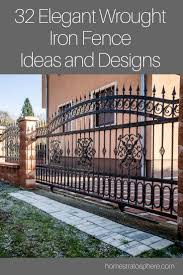 32 Elegant Wrought Iron Fence Ideas And Designs Wrought Iron Fences Backyard Fences Iron Fence