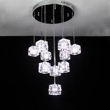 crystal pendant light dining room