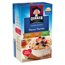 quaker oats instant oatmeal variety