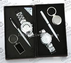 men gift set upscale gift keychain