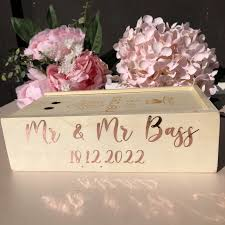 Personalized Wedding Glass Card Box Decals Rose Gold Wedding Vinyl Decals Stickers Decorations Only For Stickers Wall Stickers Aliexpress
