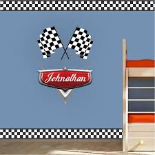 Checkered Flag Border Decal Sports Wall Decal Murals Race Track Wall Stickers Sports Wall Decals Custom Wall Decals Wall Decals For Bedroom