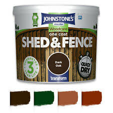5l 9l Johnstones Woodcare One Coat Shed And Fence Paint Garden Uv Protection Uk Ebay