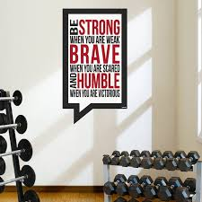 Large Modern Be Strong Life And Workout Home Gym Or Work Wall Etsy