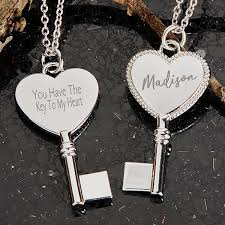 personalized pendant necklace key to