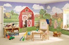 Kids Room Farm Wall Mural Farm Kidsrooms Wallart Artforkids Kids Room Murals Kids Wall Murals Barnyard Murals