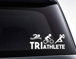 Triathlete Swim Bike Run Triathlon Vinyl Decal Sticker