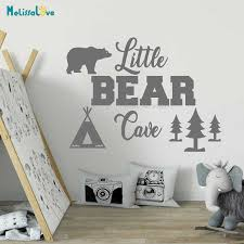 Little Bear Cave Quote Stickers Kids Room Woodland Nursery Decals Decoration Wallpaper Ba568 Wall Stickers Aliexpress