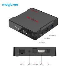 Magicsee N5 NOVA Smart Android 9.0 TV Box 4GB/64GB Quad Core 4K HD Media  Player