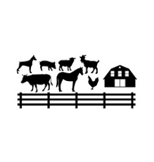 Barn Fence Silhouette Vector Images Over 100