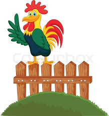 Vector Illustration Of Cute Rooster Stock Vector Colourbox