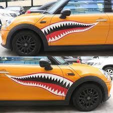 Mini Cooper Shark Decal Cool Sticker Carsoda