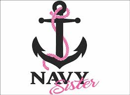 Amazon Com Navy Wife Daughter Mom Or Sister Black Vinyl Vehicle Military Family Support Graphic Decal Sticker Wife Automotive