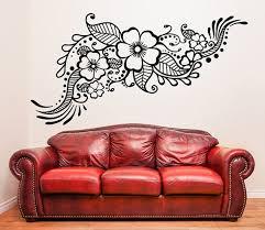Henna Tattoo Wall Vinyl Sticker Floral Flower Mandala Art Etsy Wall Decor Stickers Vinyl Wall Decals Wall Vinyl Decor