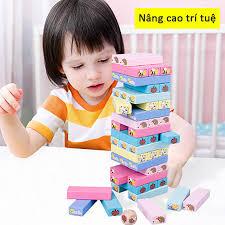 Bộ đồ chơi rút gỗ, đồ chơi gỗ thông minh, trò chơi rút gỗ Wiss Toy
