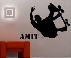 Skateboard Wall Stickers Quotes Amit Vinyl Removable Diy Wall Decals For Boys Bedroom Kids Room Cool Boy Love Sports Wall Murals Wall Decals Wall Stickerwall Sticker Quotes Aliexpress