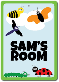 Kids Room Bugs Sign Custom Insects Wall Decor Plaque Children S Gift Ensa100064 Ebay