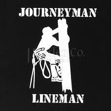 J Harlen Co Journeyman Lineman Window Decal